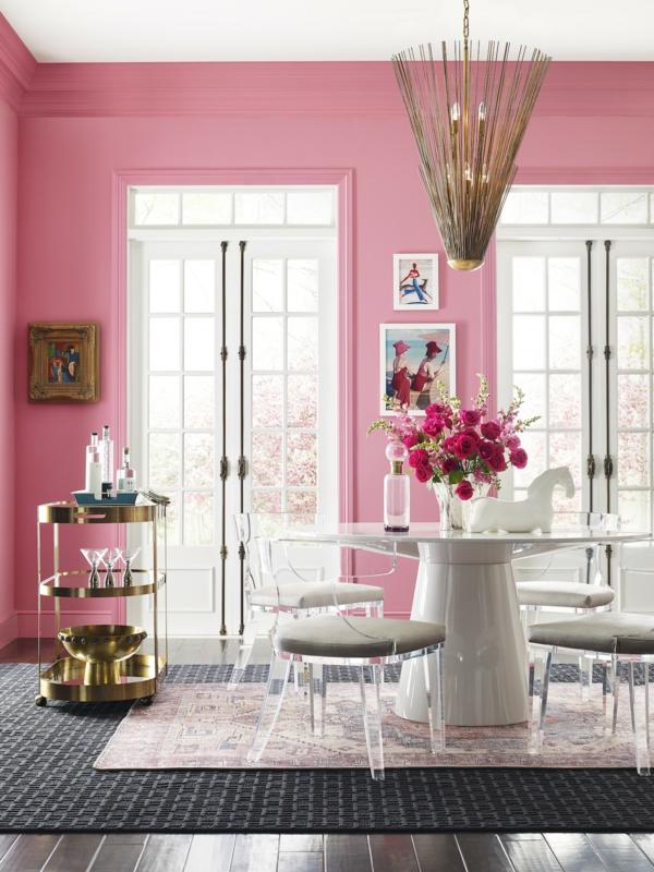 Wandfarben 2021 Trendfarben aktuelle Nuancen Pink