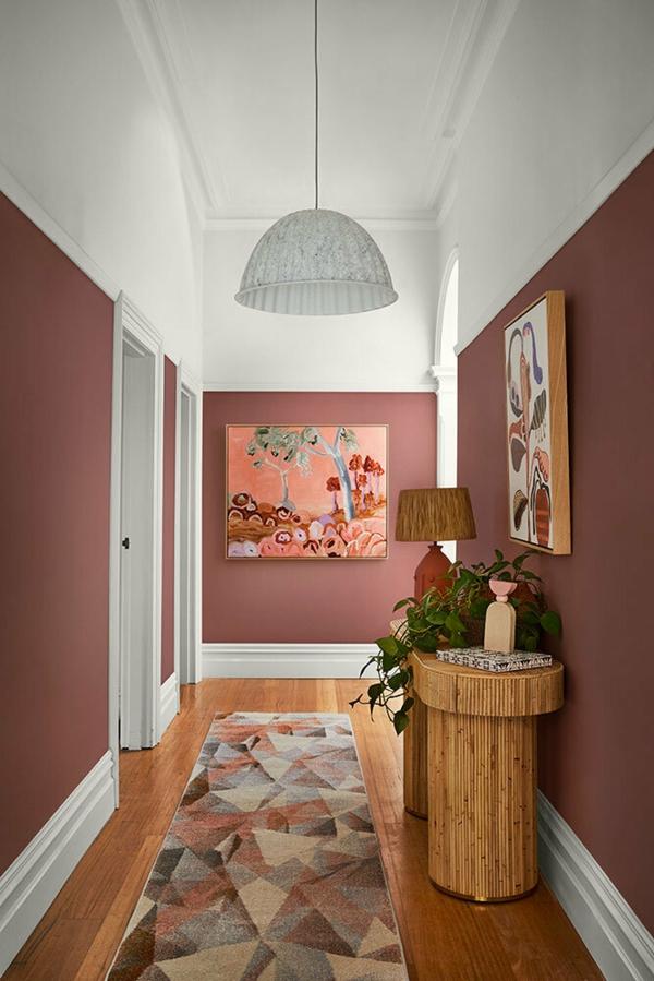 Wandfarben 2021 Trendfarben aktuelle Nuancen Rosa