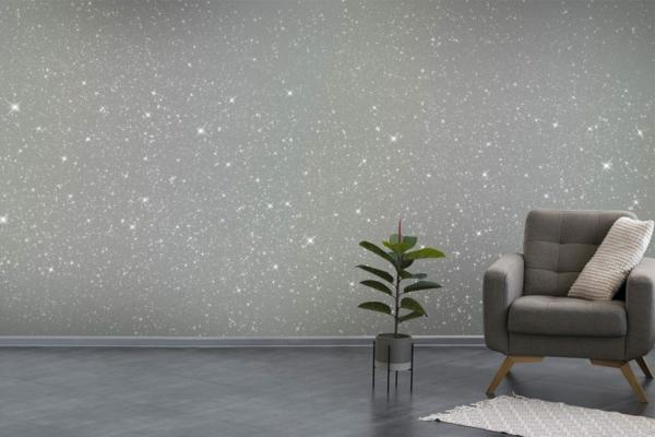 Wandfarben 2021 Trendfarben aktuelle Nuancen Silberfarbe