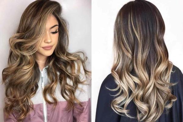 balayage braun blonde strähne haarfarben trends 2021