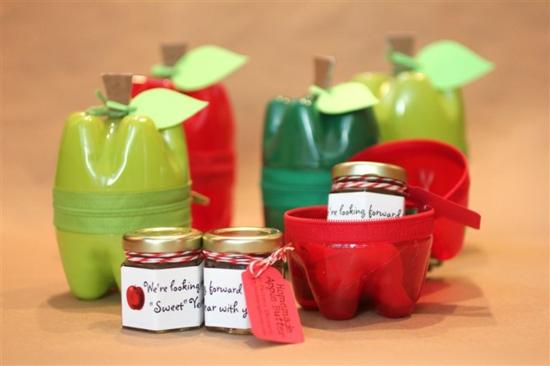 basteln für erwachsene behälter mit pet flaschen