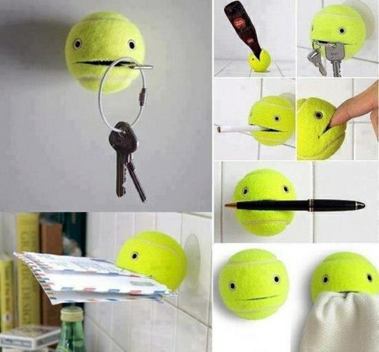 basteln für erwachsene tennisball ideen