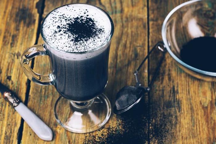 black latte selber machen rezept hausgemacht