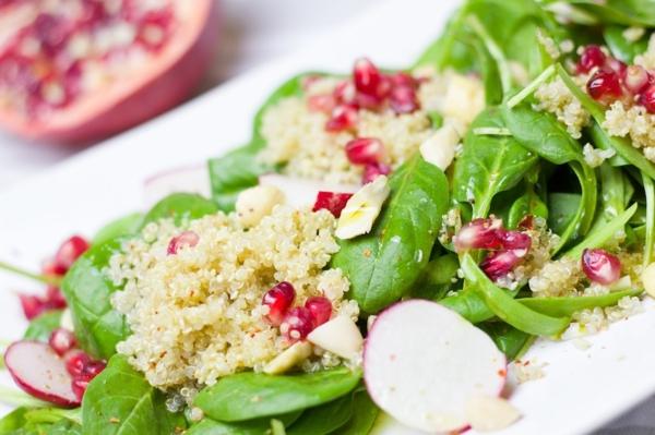 couscous salat orientalisch spinat granatapfel