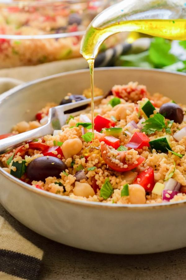 couscous zubereiten vegan kichererbsen oliven