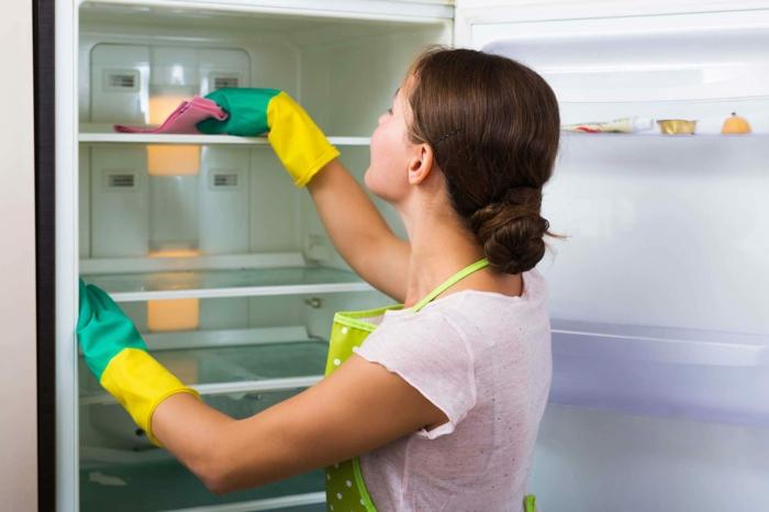 essig und backpulver putztipps kkühlschrank