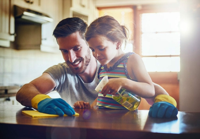 essig und backpulver putztipps umweltfreundlich kinderfreundlich