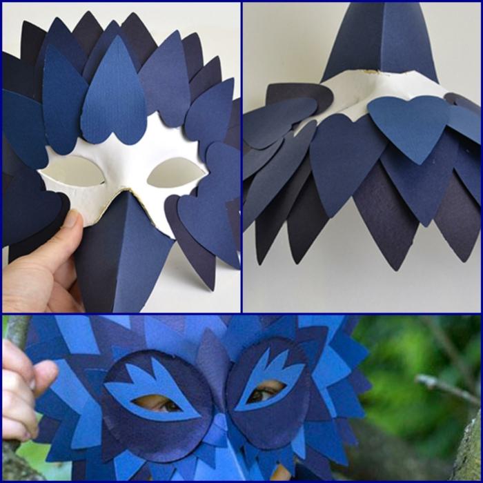 fasching basteln mit kindern faschingdeko basteln maske