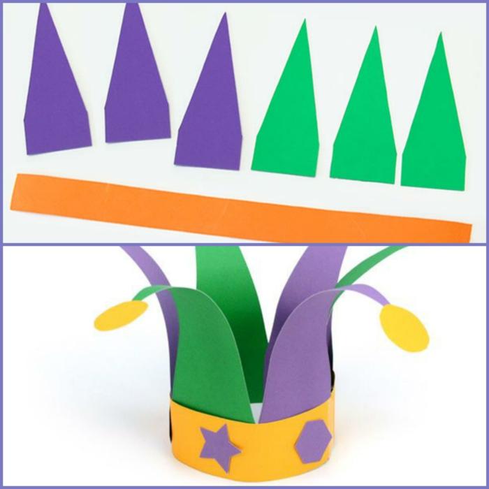 fasching basteln mit kindern faschingdeko krone basteln