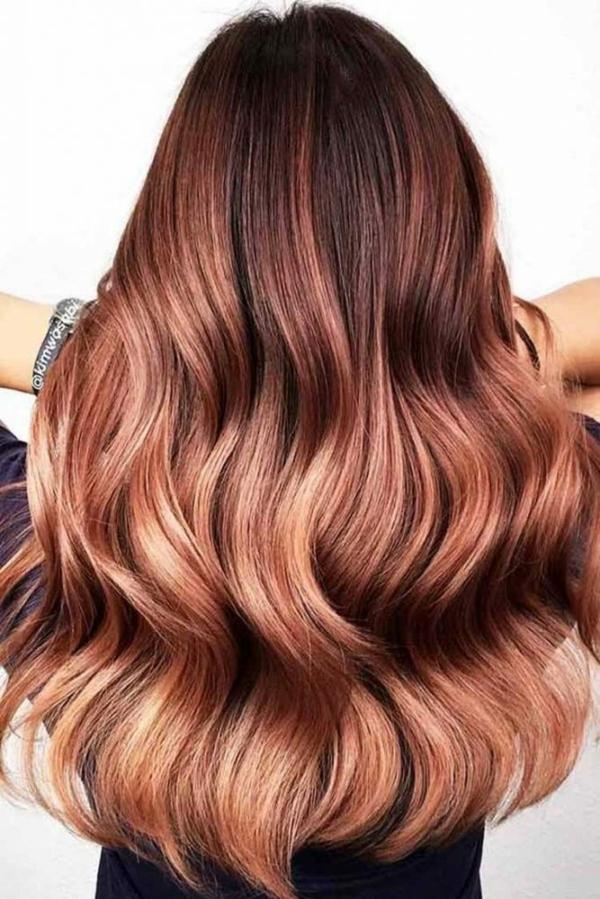 Balayage haarfarbe braun blond Ombre Balayage