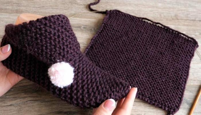 hausschuhe stricken aus einem stueck