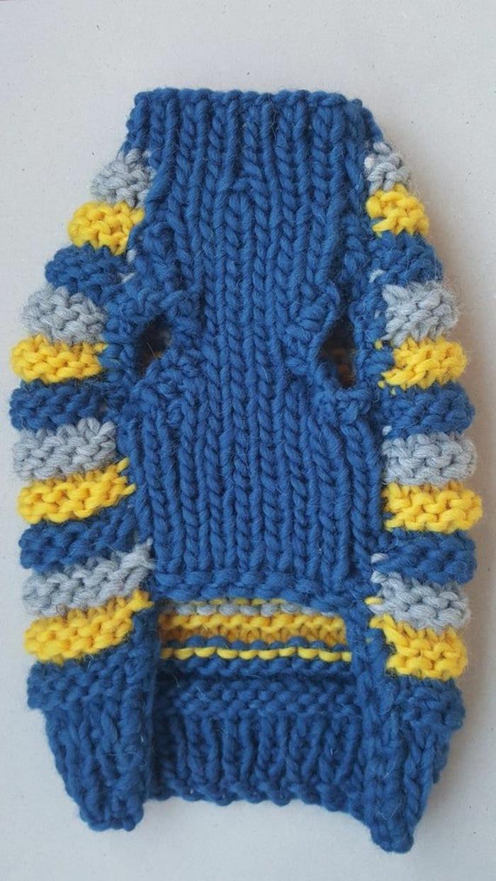 Hundepullover stricken  schick und warm durch die Kälte