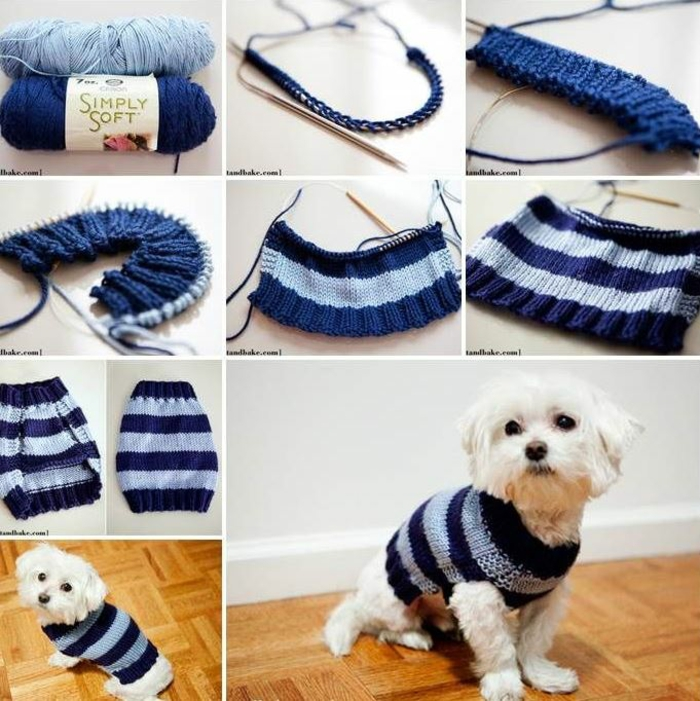 hundepullover stricken tutorial