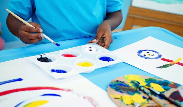 malen mit kindern kreative ideen beispiel