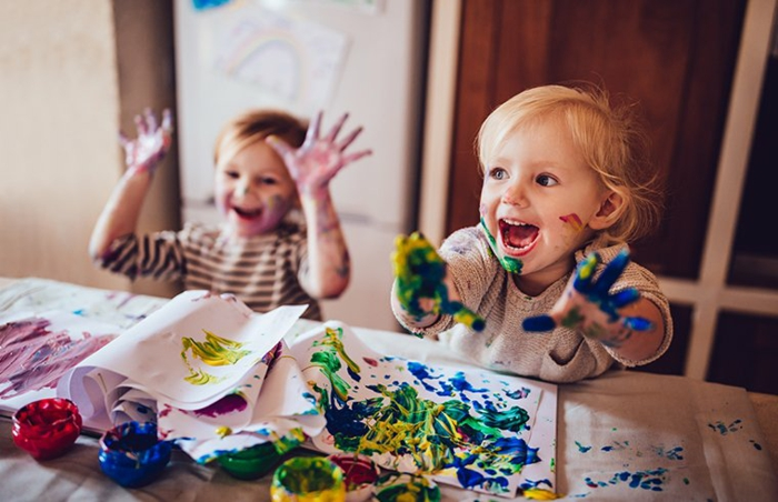 malen mit kindern kreative ideen cool