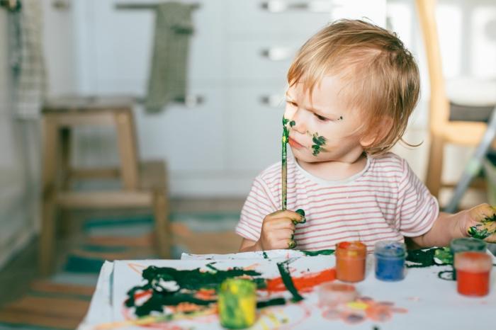 malen mit kindern kreative ideen einfach
