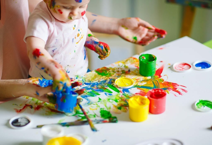 malen mit kindern kreative ideen entwicklung