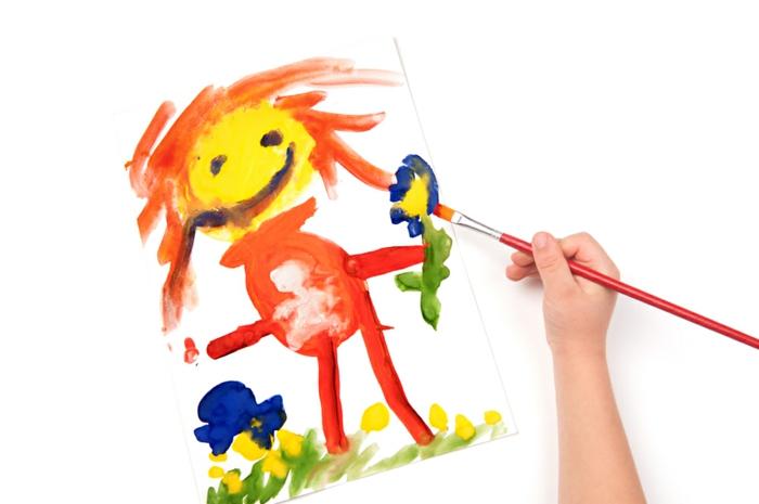 malen mit kindern kreative ideen maedchen