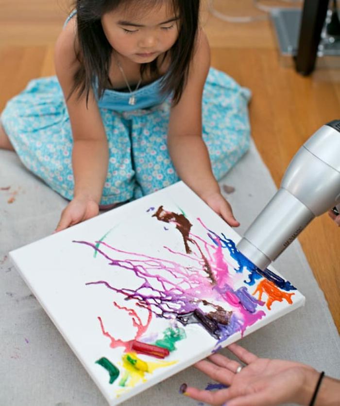 malen mit kindern kreative ideen maltechniken
