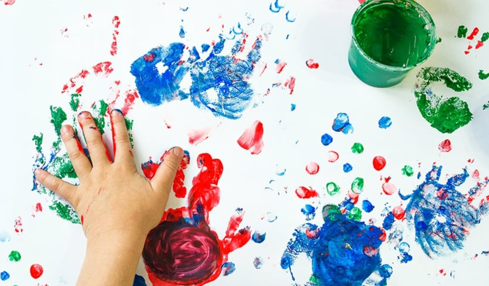 malen mit kindern kreative ideen mit fingern malen