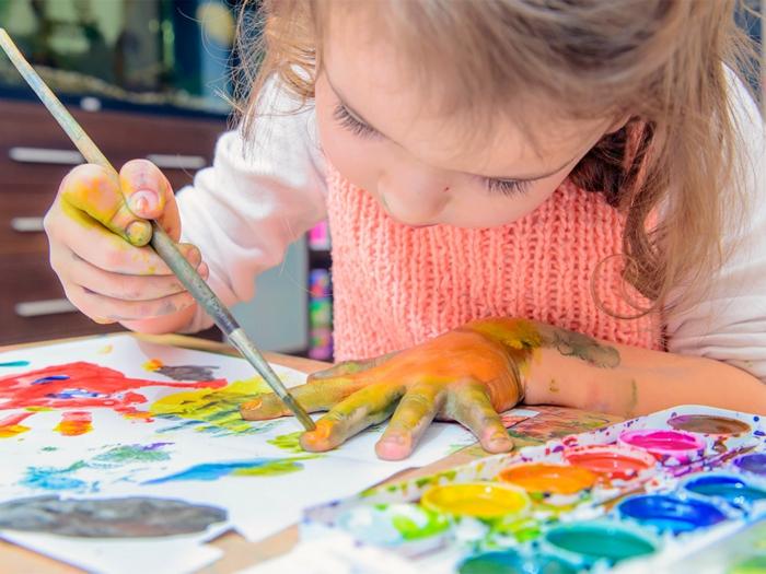 malen mit kindern kreative ideen passend