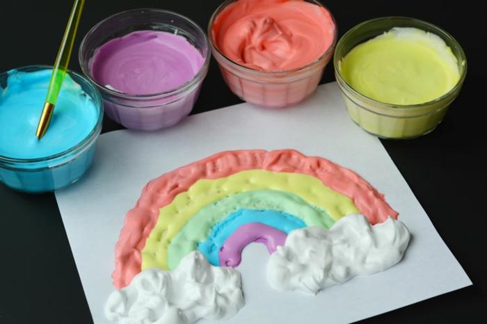malen mit kindern kreative ideen regenbogen