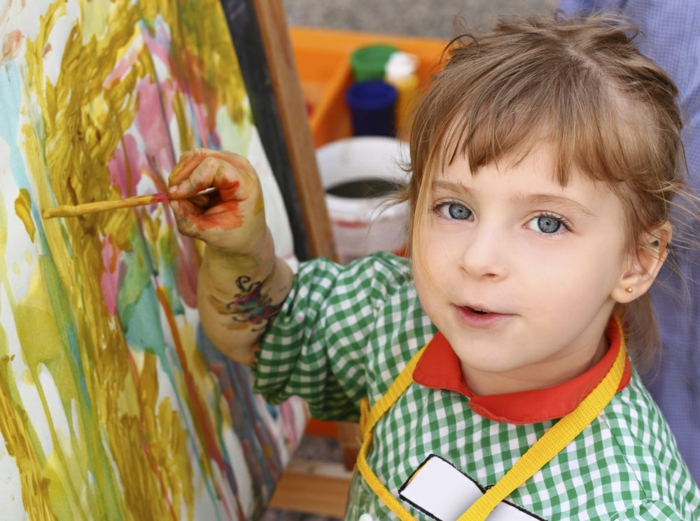 malen mit kindern kreative finger malen