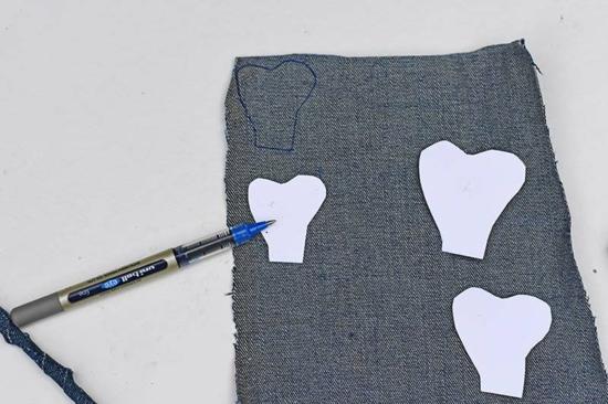 rosen aus jeans basteln für erwachsene