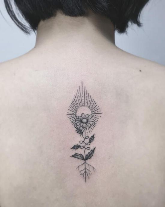 unalome tattoo blume interpretation