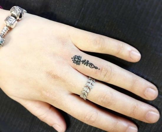 unalome tattoo finter damen