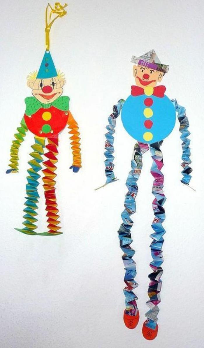 upcycling ideen faschinbasteln mit kidenrn fingerpuppen clown