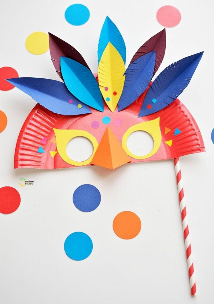 upcycling ideen faschinbasteln mit kidenrn pappteller maske