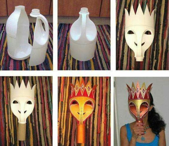upcycling ideen faschinbasteln mit kidenrn pappteller masken bastelnkl6