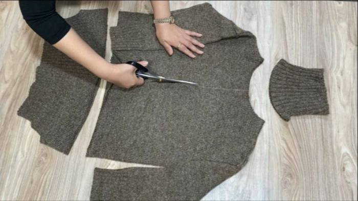 upcycling kleidung ideen au altem pullover