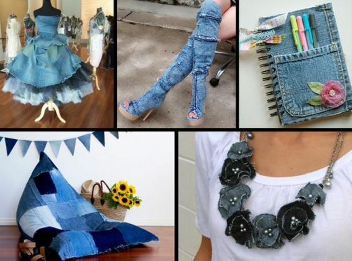 upcycling kleidung ideen jeans wiederverweten