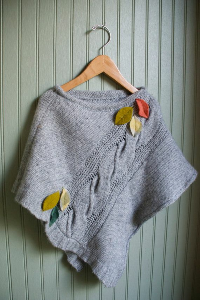 upcycling kleidung ideen poncho