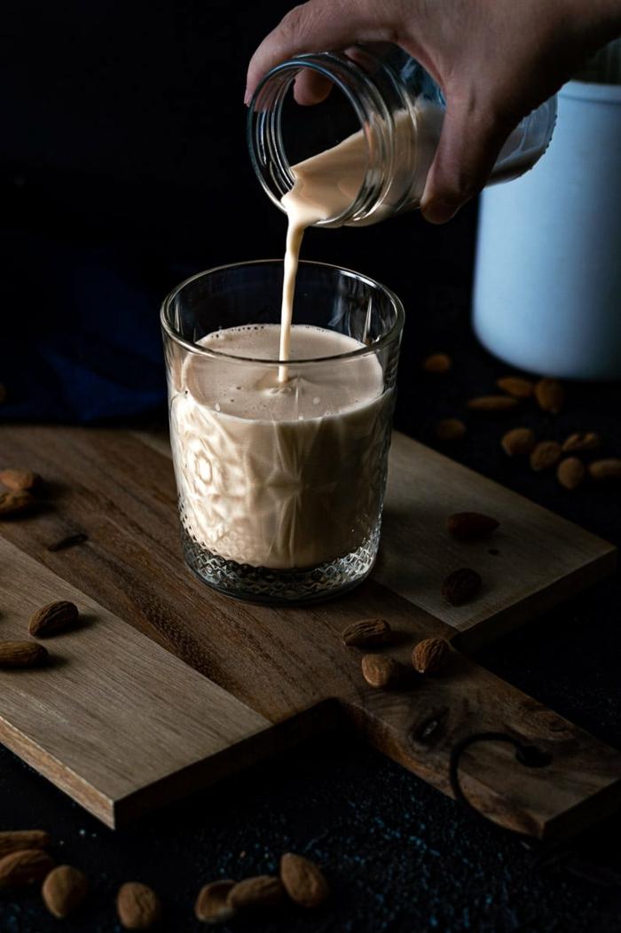 vegane milch selber machen vegane milch nüsse einweichen pudding