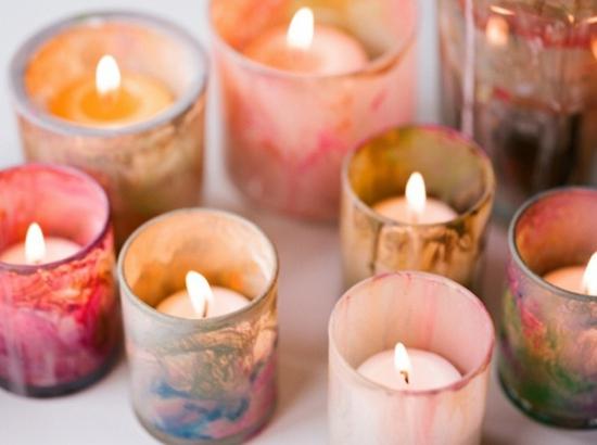 windlichter marmorieren basteln für erwachsene