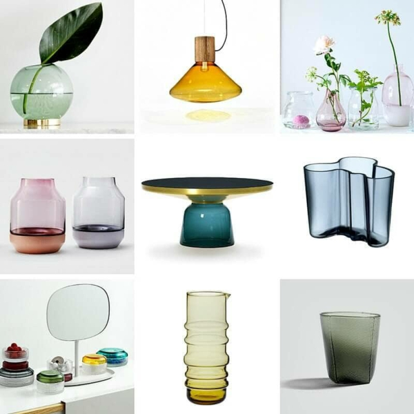 wohntrends 2021 buntes glas