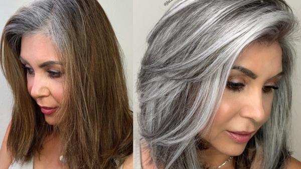 zurück zu Ihrer Naturhaarfarbe Ideen und Tipps graue Haare