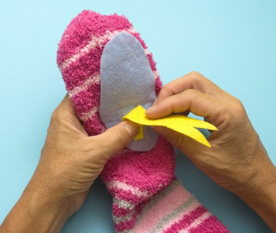 handpuppen selber machen sockenschlange