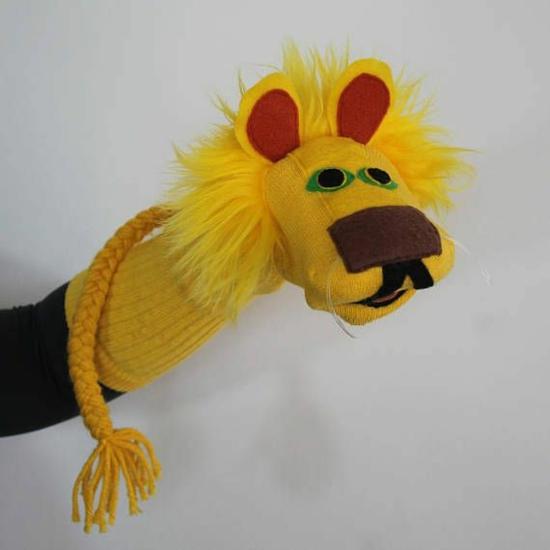 handpuppen selber machen löwe