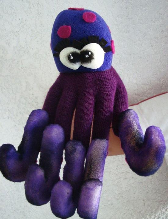 handpuppen selber machen oktopus