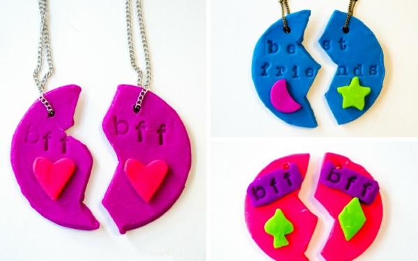 Anleitung für Freundschaftsketten basteln aus Polymer Clay DIY Projekt