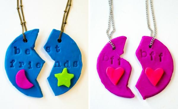 Anleitung für Freundschaftsketten basteln aus Polymer Clay Ideen