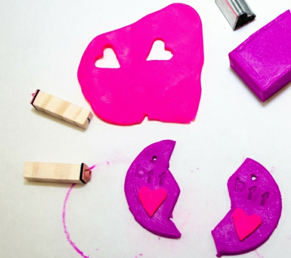 Anleitung für Freundschaftsketten basteln aus Polymer Clay Schritt1