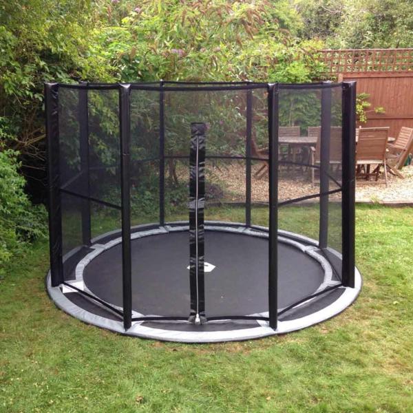 Bodentrampolin Vorteile Nachteile Garten Inground Trampolin mit Netz