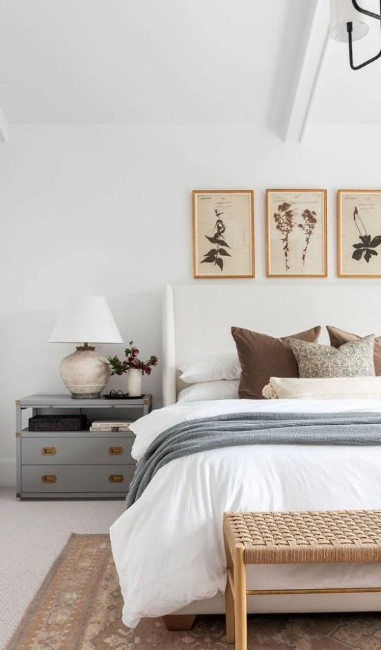 Frühlingsdeko Ideen fürs Schlafzimmer bescheiden und stilvoll geschmückt Ruhe und Gelassenheit