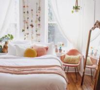 Frühlingsdeko Ideen fürs Schlafzimmer, die viel Romantik und gute Laune mitbringen