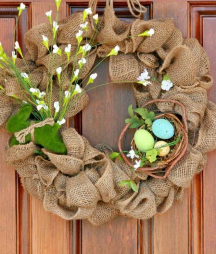 Frühlingsdeko selber machen basteln mit naturmaterialien blumen in